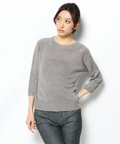 MARGARET HOWELL WOMENS / LINEN CREW NECK(ニット・セーター)