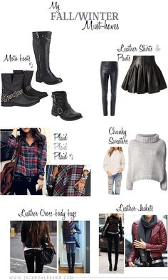 My Fall / Winter Must-haves.