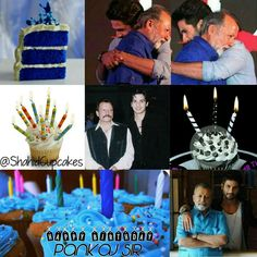 Shahid and father as cupcakes -- Pankaj Kapur & Shahid Kapoor