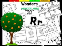 """This 28 PAGE Kindergarten interactive journal is our BIGGEST WEEKLY BUNDLE yet! It is aligned to Common Core and to the McGraw Hill Wonders series for Unit 5-Week 3. Complete Set Includes:Mini Anchor Chart/Activities for Letter """"Ff"""" and """"Rr"""", Main Topic, and Genre (Information)""""Ff"""" and """"Rr"""" Handwriting PracticeMain Topic Anchor ChartGraphic Organizers for """"An Orange in January"""" and """"Farmer's Market""""Ff and Rr Review Words Sentences for Fluency PracticeBuild It!"""
