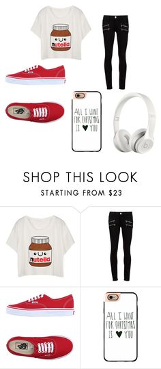 """Sin título #164"" by resentida on Polyvore featuring moda, Paige Denim, Vans, Casetify y Beats by Dr. Dre"