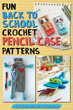 Add a bit of fun to your kids' study time by making a cute yet functional crochet pencil case for them! Giving them a gift will surely motivate them to do their best.Make it a bit more personal by choosing a pencil case crochet pattern that suits their interests. We prepared some crochet pencil case patterns that little boys and little girls will absolutely love!#crochetpattern #crochetpencilcase Crochet Pencil Case, Pencil Case Pattern, Kids Study, Cute Pattern, School Projects, Little Boys, Free Crochet, Back To School, Crochet Patterns