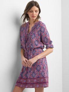 Print split-neck shirtdress | Gap.ca CA $69.99
