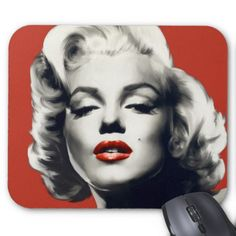 Red On Lips Marilyn Mouse Pad Dreamscometrue