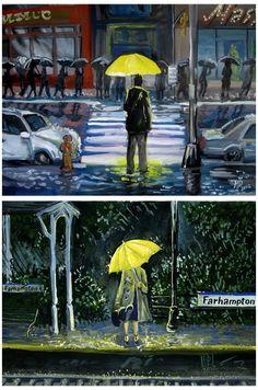 #himym #art #yellow #umbrella #himymartyellowumbrella How I Met Your Mother Series Movies, Tv Series, How Met Your Mother, Robin Scherbatsky, Ted Mosby, Yellow Umbrella, Mother Art, Himym, Tv Land