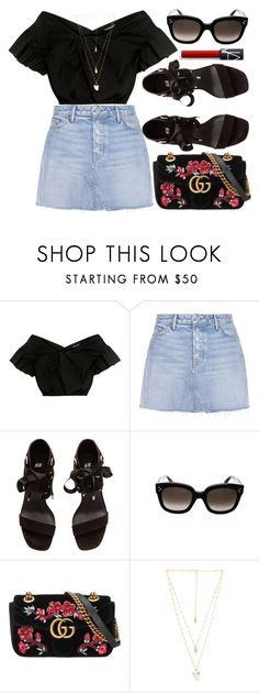 """""""Salsa Beat"""" by smartbuyglasses ❤ liked on Polyvore featuring Rachel Comey, GRLFRND, H&M, Gucci, Natalie B, black and celine"""