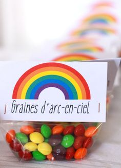 Rainbow party fête arc-en-ciel favor gift