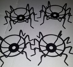 4 Spider Shaped Cupcake Stands