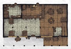 The Typical Tavern, a FREE battle map for D&D / Dungeons & Dragons, Pathfinder, Warhammer and other table top RPGs. Tags: bar, building, city, civilization, inn, tavern, town