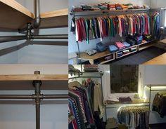 Gelungenes, hoch individuelles Regalsystem für einen Secondhandladen für Kinderkleidung. | (c) kleiner-sonnenkaefer.de