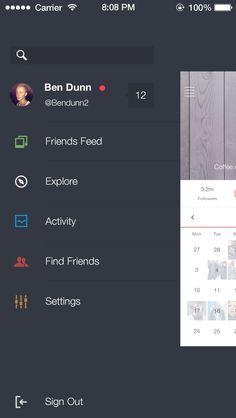 drawer in app menu - Google Search