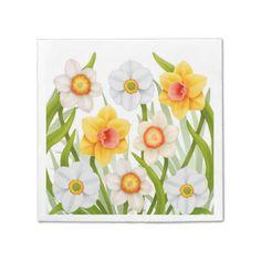 Spring Daffodil Flowers Napkins