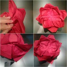 #Origami: la #ninfea #portacandela #capodanno #free #ebook #paper via @ideedituttounpo