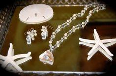 Swarovski Necklace Sterling silver by IslandTreasures2013 on Etsy, $85.00