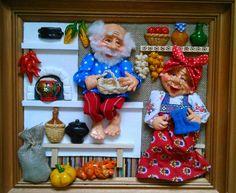 Salt Dough, Russian Art, Handmade Art, Polymer Clay, Mosaic, Dolls, Holiday Decor, Painting, Home Decor