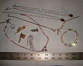 Jewelry lots Vintage Old  RHINESTONE Wear Repair Repurpose lot #big27
