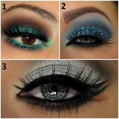 Verde, azul y plata