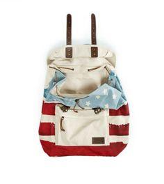 White  AEO Flag Backpack