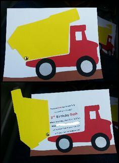 5. Construction Party invitation. Boy birthday dump truck // mariadalecrim@gmail.com #mariadalecrim
