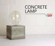 Bricolage - Lampe béton