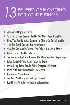 Still Not Blogging? Here's 13 Reasons Why Your Business Should Start #Infographic