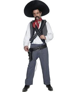 4d912cd51a5 Buy Authentic Western Mexican Bandit Costume at Fancy Dress Delivered.