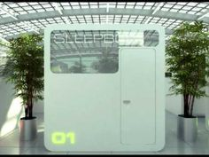 SLEEPBOX installed in Moscow with two beds inside. If you want to sleep, while waiting your plane or train, without wasting time searching for a hotel. Tiny Spaces, Small Rooms, Sleep Box, Sleeping Pods, Office Pods, Capsule Hotel, Micro Apartment, Modern Metropolis, Small Places