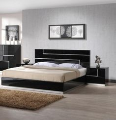 Lucca Contemporary Bed | J & M Furniture