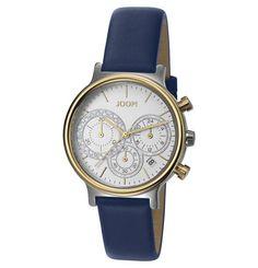 JOOP! Damenuhr, Chronograph, 101502 GOLDEN MIDNIGHT Blau