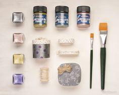 La pintura metálica de Kreul es a base de agua y es ideal para realizar glamurosos proyectos.  ¡Aprovecha la promoción 3×2! Encontrarás este producto en nuestra tienda online shop.innspiro.com o en tiendas especializadas.