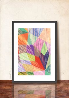 GEOMETRIC Poster Abstract Wall Decor Poster A3 by TANGRAMartworks, $20.99