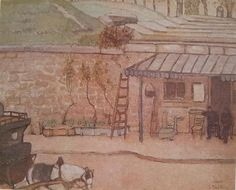 1917 env. L'Octroi _ Huile sur toile marouflée sur panneau 38 x 46 cm Collection particulière