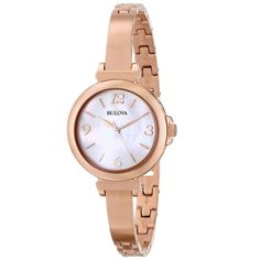 BULOVA 97L137 Modelo  Classic Luxury Collection Enchapado en oro rosé. Ideal para ocasiones especiale