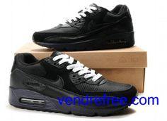 new arrivals bf037 7cdd5 Vendre Pas Cher Homme Chaussures Nike Air Max 90 (couleur noir,bleufonce)  en ligne en France.