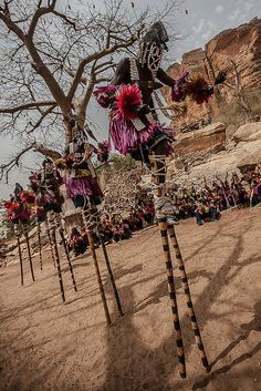 Dogon mask dance, tireli, pays dogon, mali by ronnyreportage, via Flickr