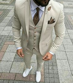 Custom Made Men Wedding Suit Prom Tuxedo Slim Fit 3 Piece Groom Wear Blazer Custom Made Men Wedding Suit Prom Tuxedo Slim Fit 3 Piece Groom Wear Blazer 36 Groom Suit That Express Your Unique Styles and…Boho Wedding Dresses custom madeTHE DROP Dress Suits For Men, Suit And Tie, Men Dress, Prom Suits For Men, Tan Suit Men, Best Mens Suits, Suit For Man, Taxido Suit, Best Wedding Suits For Men
