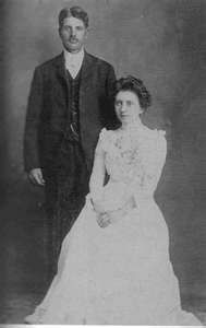 Grace Ingalls Dow and husband Nathan on their wedding day