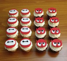 Big Hero 6 Cupcakes - For all your cake decorating supplies, please visit craftcompany.co.uk