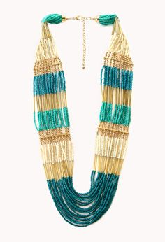 Eclectic Beaded Necklace | FOREVER21 - 1000069862