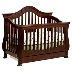 Million Dollar Baby Classic Ashbury 4-in-1 Convertible Crib in Espresso - BedBathandBeyond.com