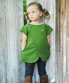 Lucy Tunic cross over top sewing pattern for girls | The best sewing patterns for women, girls, toys and more. Go To Patterns & Co.