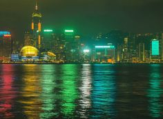 시원한 여름 밤 홍콩의 야경은 이러했다는 것이다