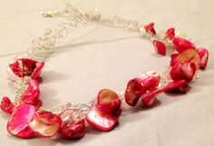 Crochet WireBraided Necklace w/ stone chips and by DesignsByGray