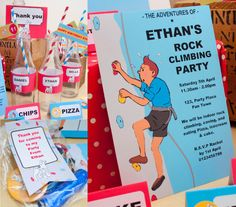 Rock Climbing Party DIY Printable Kit - Instant Download - Tintin inspired $19.50AUD