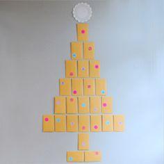 Envelopes and a doily make a unique advent-calendar