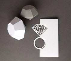 Paper Cut Ring Card