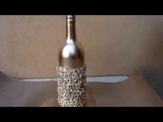 Resultado de imagem para how to fabric decoupage wine bottle Diy Bottle, Bottle Vase, Wine Bottle Crafts, Bottles And Jars, Christmas Candle Holders, Diy Candle Holders, Diy Candles, Altered Bottles, Bottle Painting