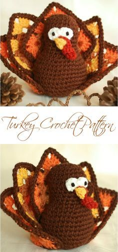 Free Thanksgiving Turkey Pattern made with granny squares ... very cute!