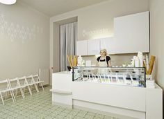 Ice Cream Parlour Decorating Ideas | Veganista ice cream parlor by Ulrich Huhs & Gabriele Lenz, Vienna ...