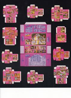 Vintage Barbie Boxes Printable for doll's house inspired in 1981